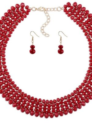 red pearls necklace