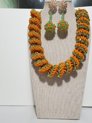 African Round Bead Jewelry Set