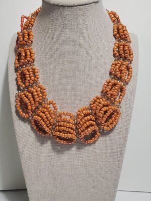 Multi layered Brown Pearl Necklace