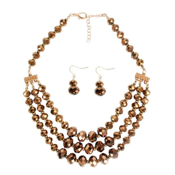brown gold necklace