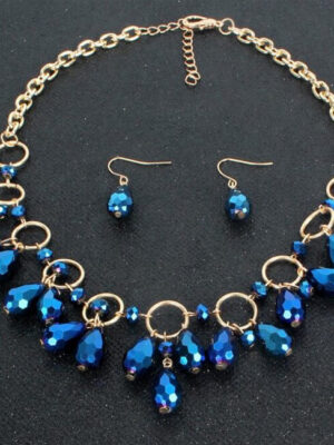 blue Africa Beaded Necklace