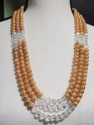 Triple Strand Golden Necklace