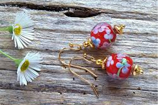 Floral-Bead-Earrings