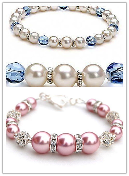 Pearl-Crystal Combination Bracelet