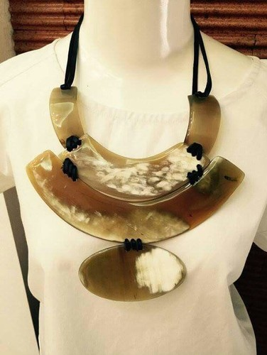 Brass and Cowrie Necklace